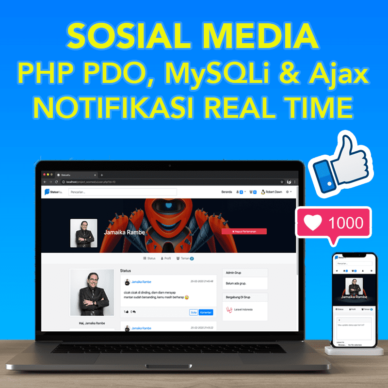 Source Code Aplikasi Media Sosial Berbasis Web