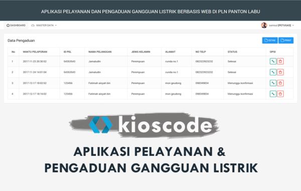 Aplikasi Pelayanan Dan Pengaduan Gangguan Listrik Berbasis Web