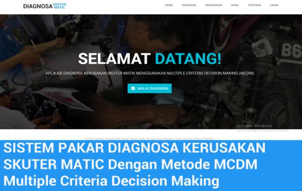 Aplikasi Diagnosa Kerusakan Skuter Matic Berbasis Web Menggunakan Metode Fuzzy MCDM (Multiple Criteria Decision Making)